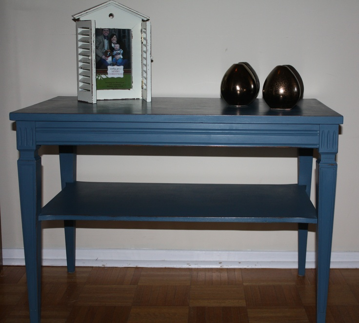 Vintage side table in ASCP Aubusson Blue