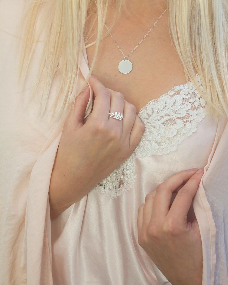 Silk & Silver  925 Sterling Silver necklace & ring ✨www.luilu.com