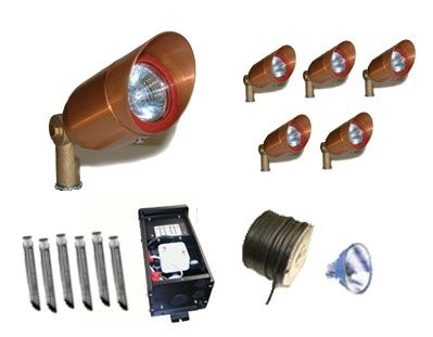 Copper MR16 Low Voltage Accent Lighting Kit #1  #landscapelightingkit #landscapelighting