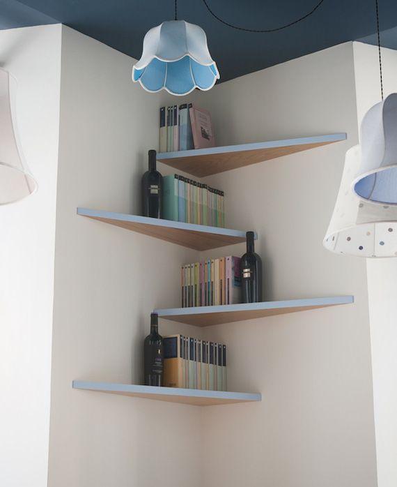 Las 25 mejores ideas sobre estantes de esquina en for Decoracion de estanterias