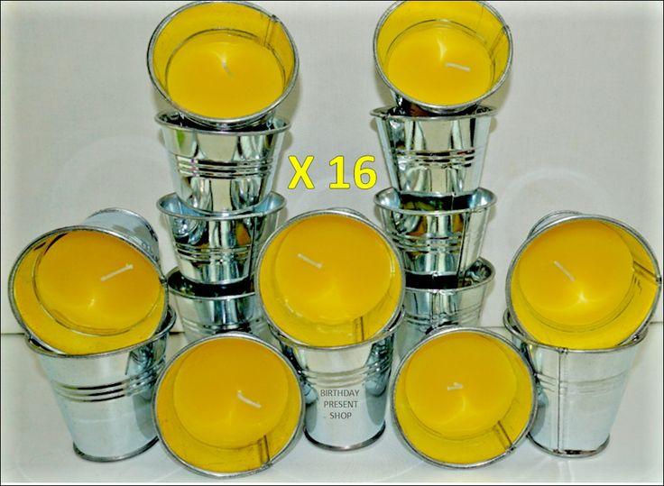 16 Citronella Mini Bucket Candle garden outdoor holiday BARBECUE JOB LOT BUNDLE