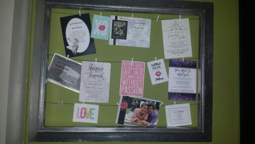Picture Frame with clothespins