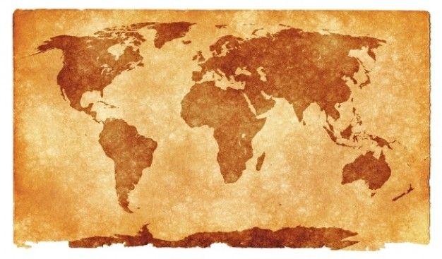 grunge mapa del mundo Foto Gratis