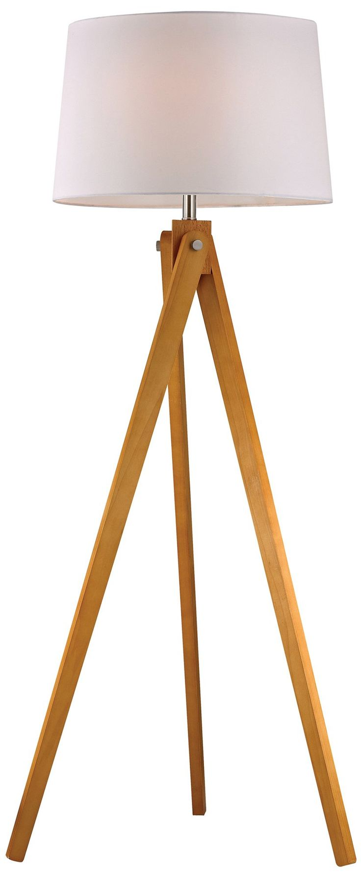 Tripod lamp target - Amazon Com Dimond Lighting D2469 Led Wooden Tripod Floor Lamp Natural Wood