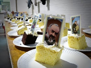 """Saint """"tombstone"""" cake for Feast of All Saints"""