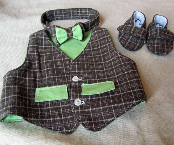 Vest, Baby Boy Shoes, Bow Tie Sewing Pattern Bundle.