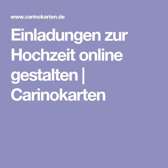 Einladungen zur Hochzeit online gestalten | Carinokarten