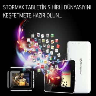 Stormax STORMAX T701, 1GB, 16GB, 7 MULTİTOUCH, ANDROİD 4.0 İCE CREAM SANDWİCH, BEYAZ, TABLET :: albakavm.com