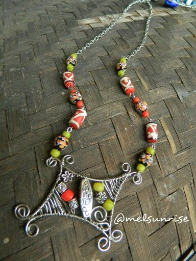 Tinned cooper wirework with javabeads