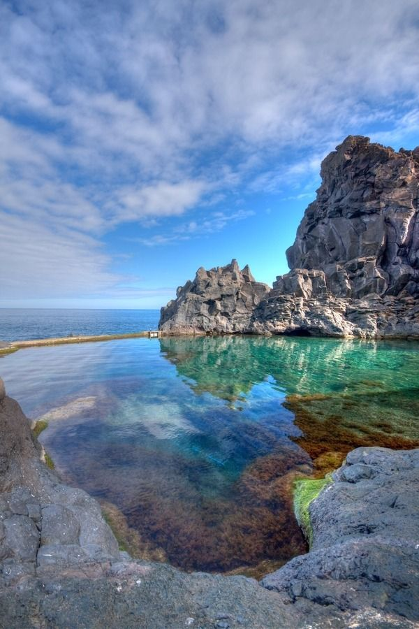 Rock Pool, Seixal, Madeira Island, Portugal