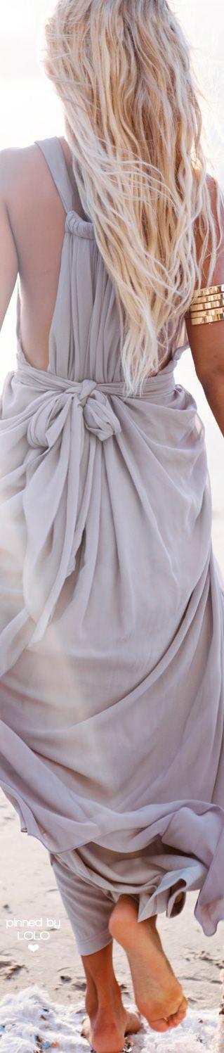 Summer look | Boho pastel dress