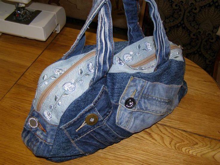 Юбка и сумка из старых джинсов