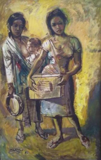 Barli Sasmitawinata - Ibu dan Anak dan Gadis