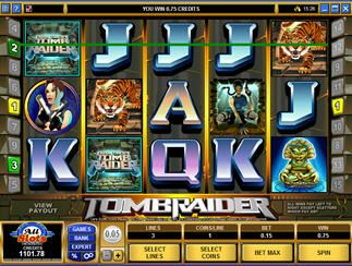 #Lara #Croft vi aspetta per un'avventurosa puntata alla #video #slot  #Tomb #Raider - http://www.allslotscasino.it/slot-machine-online/tomb-raider.html
