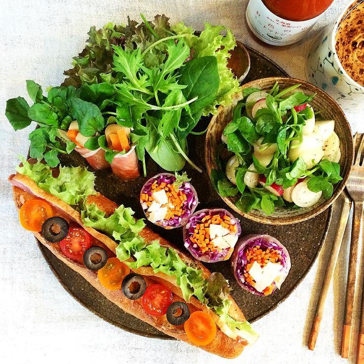 七草サラダとベーコンレタスサンド
