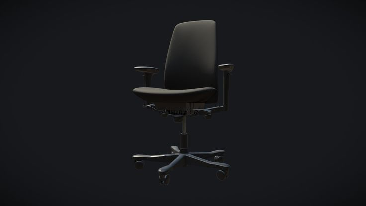 Office Chair. Modeled in 3ds Max, textured in Substance Painter.