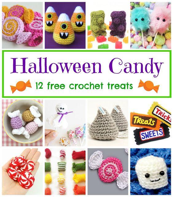 Halloween Candy! 12 Free Crochet Treats, roundup on Fiber Flux