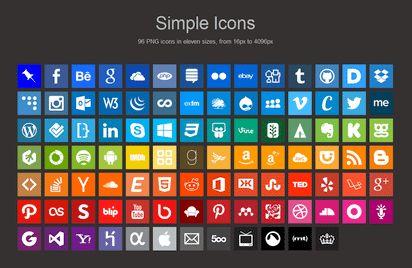 汎用性に優れた96種類のシンプルなソーシャルアイコン『Simple Icons』 - K'conf