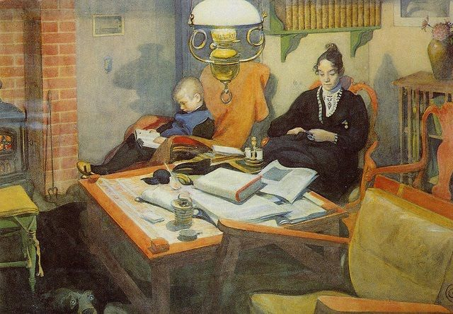 'Reading' - Carl Larsson