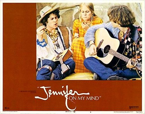 "JENNIFER ON MY MIND 1971 ON DVD.  A drug addiction film. Marcus's girlfriend, Jennifer, overdoses on heroin in his mod furnished apartment so he stashes her body in an old harpsichord.   When he first met Jennifer she was only into pot and Moroccan hash. The good-old days! Marcus's Grandfather, a true capitalist, tells him, ""You shouldn't be buying grass, you should be selling it!"""