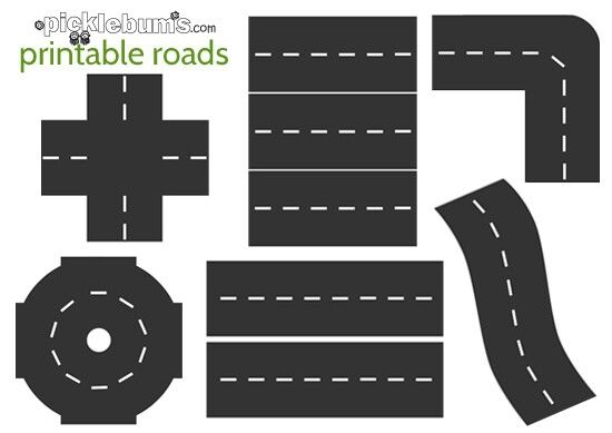 Printable Road for Table Decoration