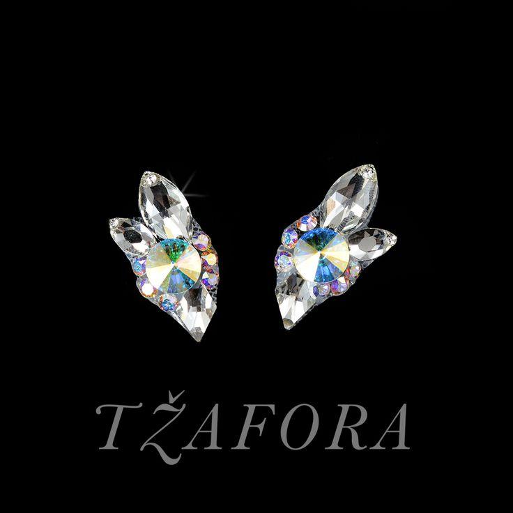 """All Day Long"" - Swarovski ballroom earrings. Ballroom dance jewelry, ballroom dance dancesport accessories. www.tzafora.com Copyright ©️️️️️️️ 2017 Tzafora."