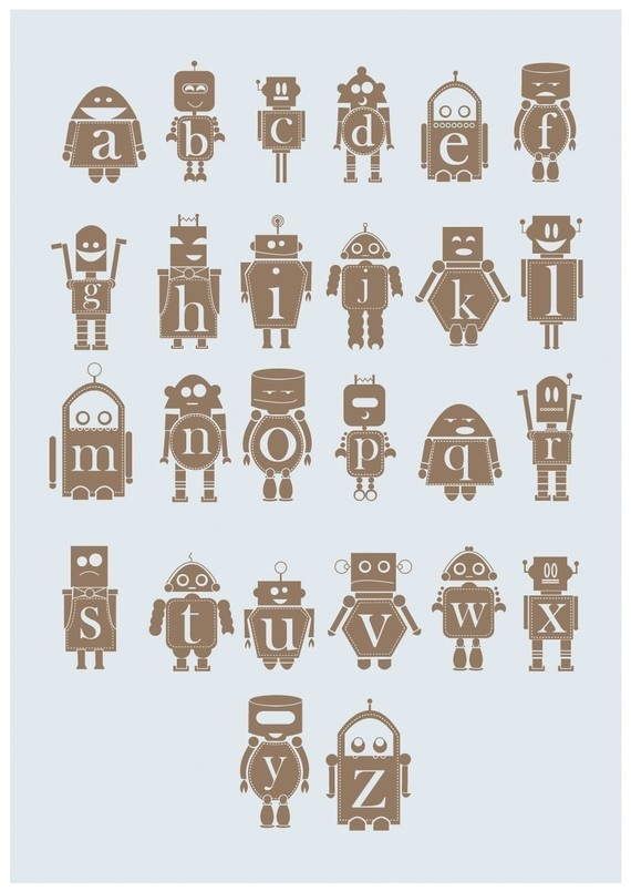 robot alphabet (source?). I really wish this was in uppercase