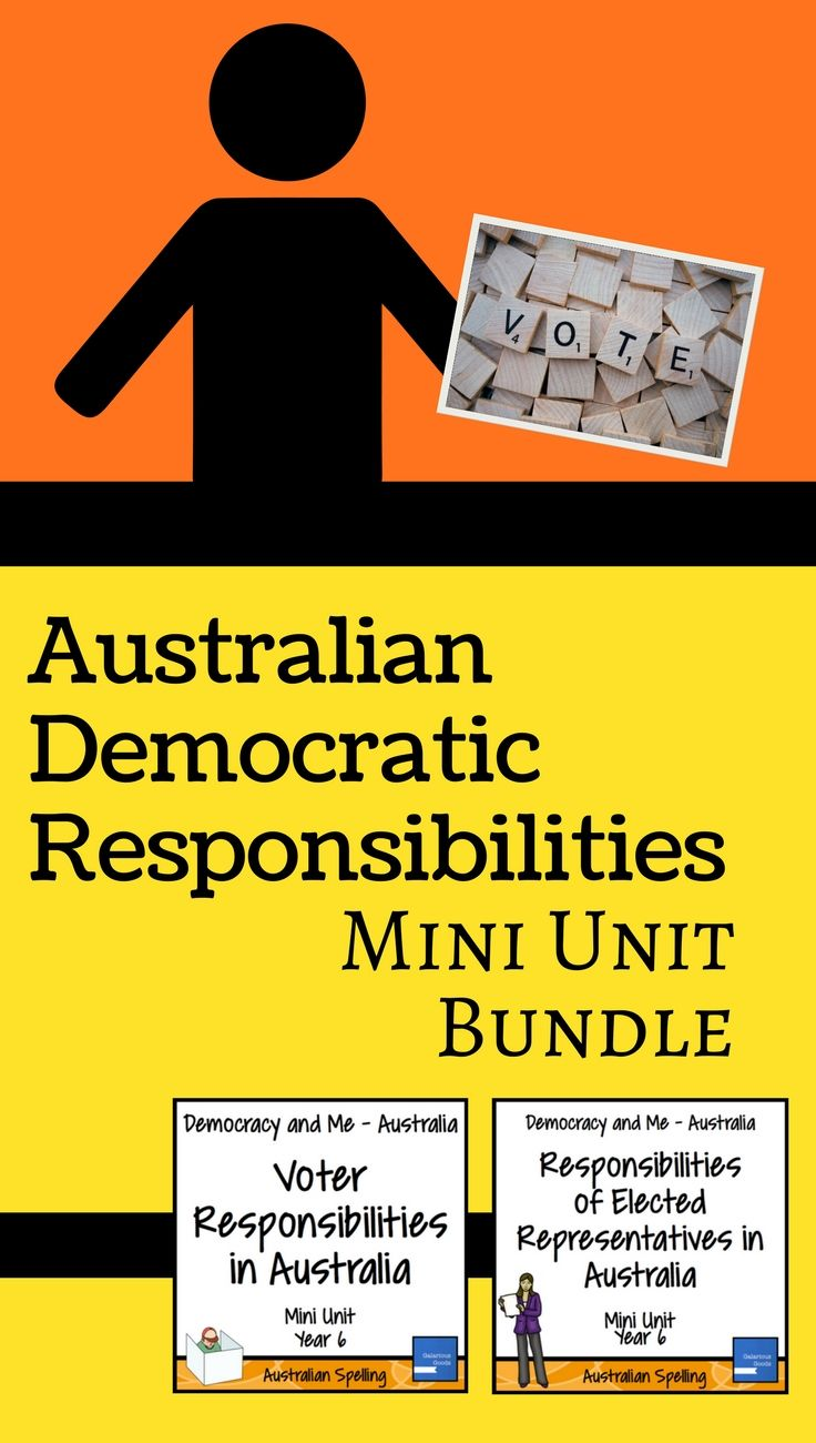 An Australian Year 6 Civics and Citizenship Mini-Unit bundle looking at the responsibilities of electors and representatives in Australian's democracy. Includes fact sheets, activities, discussions, assessment pieces and flipbooks. Covers the Year 6 Australian curriculum HASS/Social Studies outcome.