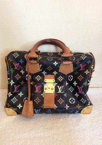 LOUIS VUITTON BLACK MULTI COLOUR SPEEDY 30 BAG - Whispers Dress Agency - Handbags - £600