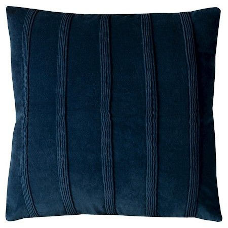 Navy Pintuck Stripes Throw Pillow (22 Throw pillows