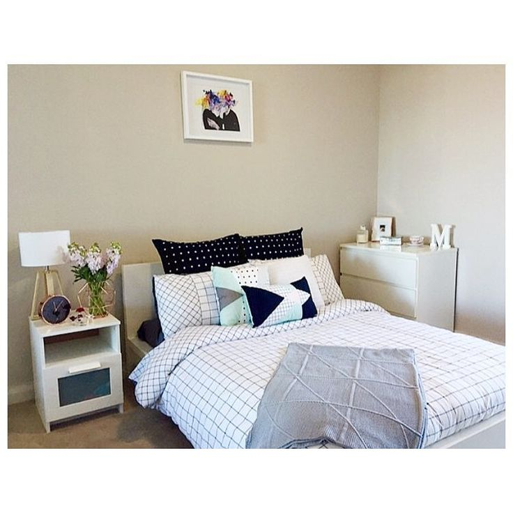 regram from mykaelag featuring the kmart trent grid quilt cover white and natural