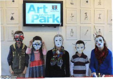 kids art workshops with p gurgel-segrillo at art in the park - cork