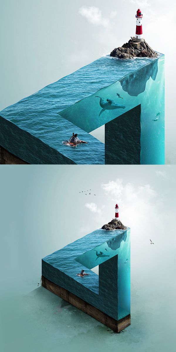 Impossible Sea #photomanipulation #retouching #photography