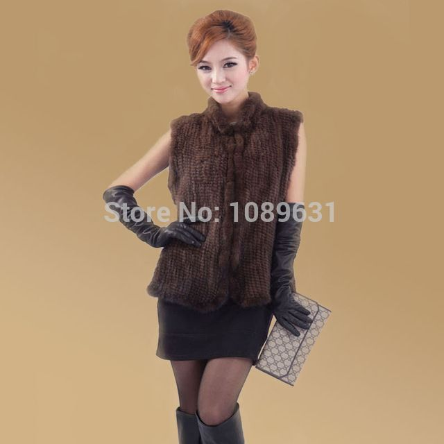 New arrivals genuine mink fur vest women knitted mink fur jacket winter mink waistcoats big size Free Shipping EMS Price on the app: US $84.59 US $86.39-92.15 /piece click the link to buy http://goo.gl/YJxPC6