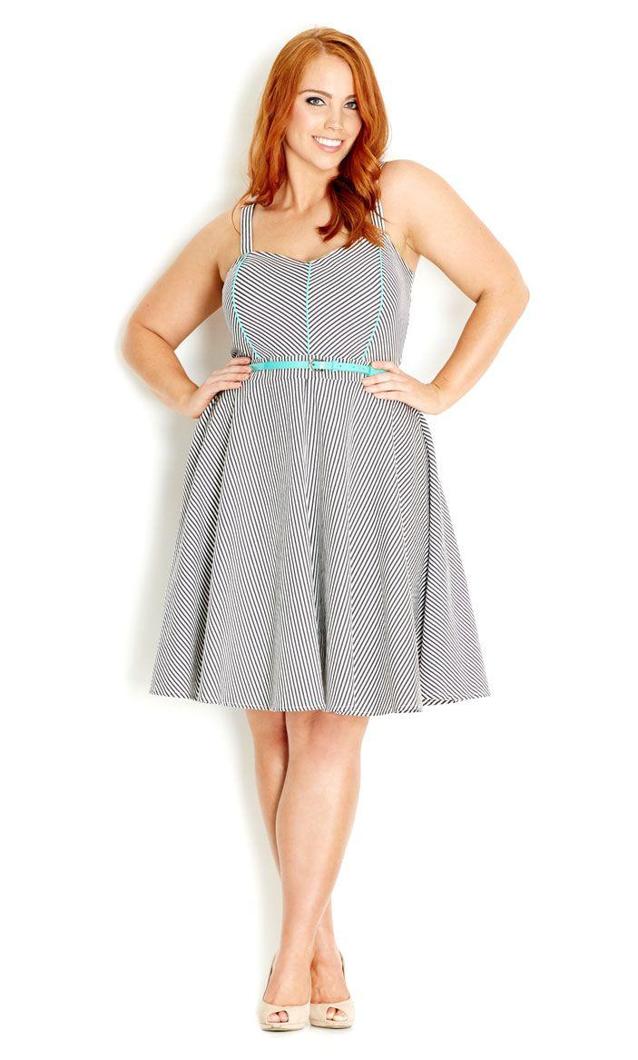 City Chic - BOARDWALK DRESS - Women's plus size fashion #citychic…