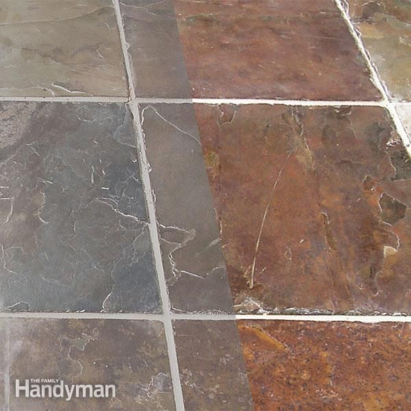 how to clean floor tiles before grouting