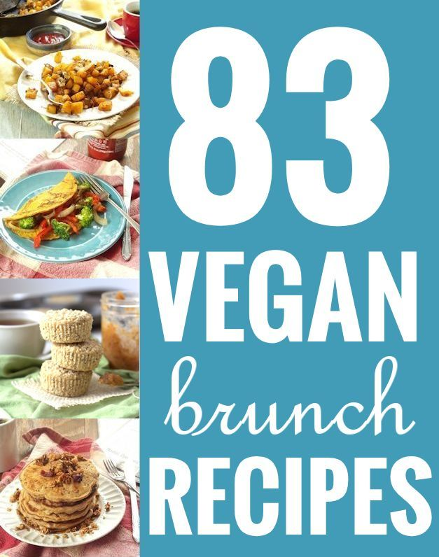 A roundup of 83 scrumptious vegan brunch recipes, covering everything from pancakes and waffles, to breakfast salads and nachos!