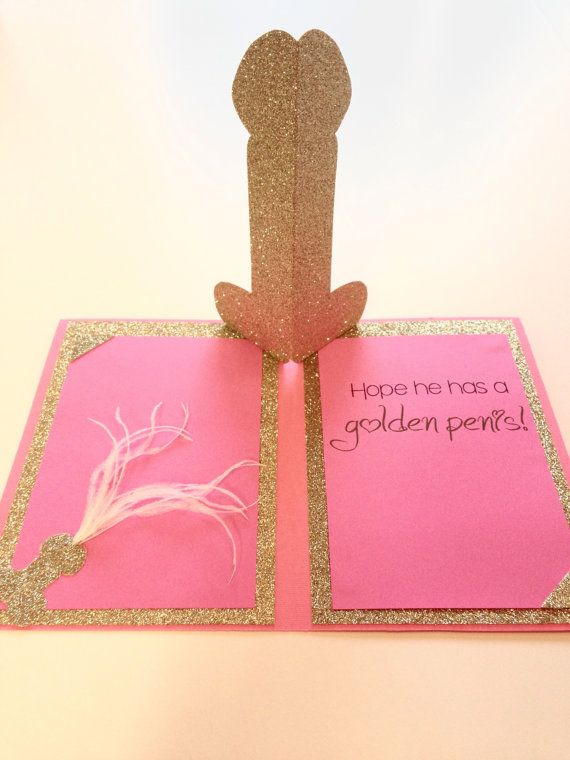 Congrats on your Engagement Card; Glitter Pop Up Penis ...
