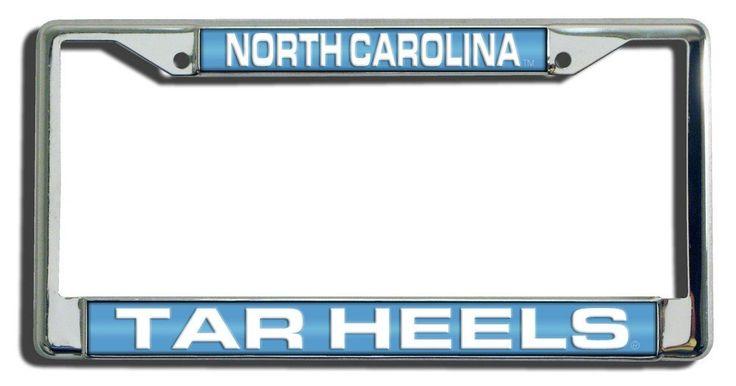 North Carolina Tar Heels Laser Cut Chrome License Plate Frame
