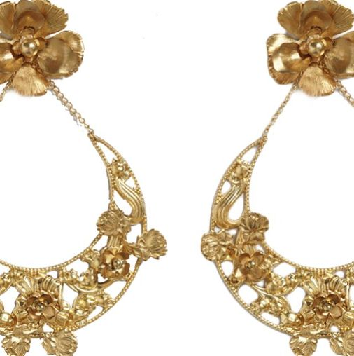 Without a doubt, our favourite earrings from this collection! Statement gold, bold earrings by a.b. Ellie.