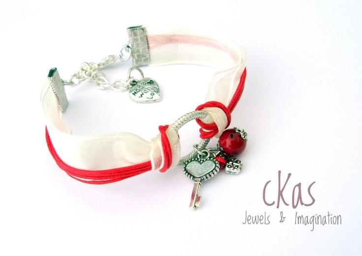 Haiku Bracelet cKas by Klarita Bijoux  -Cherry-