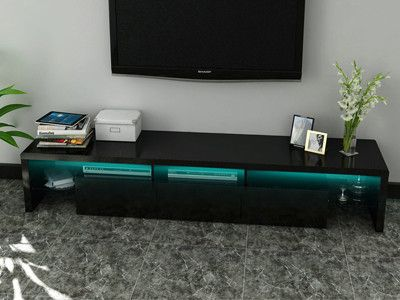 Nice Buy High Gloss LED TV Stand Black At Modern Furniture Deals For Only £169.00