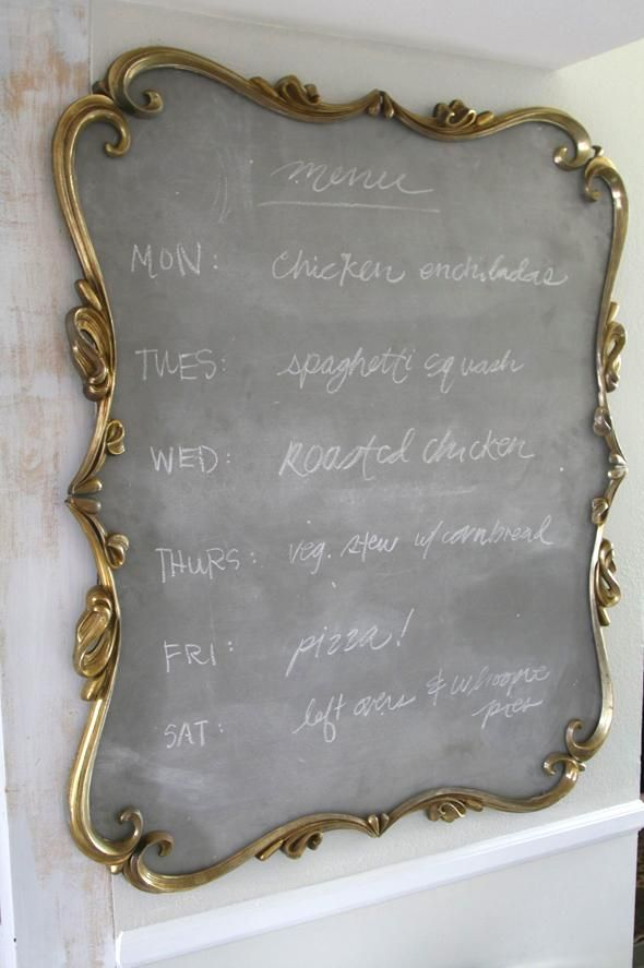 Customize a light grey color for your chalkboard paint to create a unique look! Thanks for the inspiration, @Jenny Komenda!