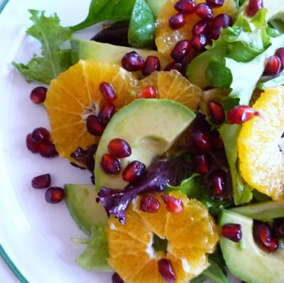 For Love of the Table: Clementine & Pomegranate Salad with Avocado