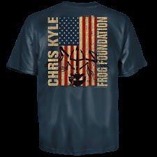 Chris Kyle Frog Foundation Epic Flag Frog T-Shirt! M - 3XL American Sniper