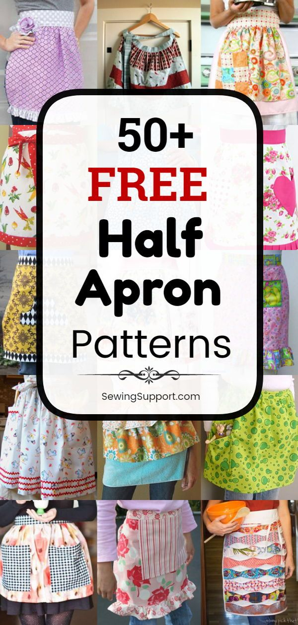 Apron Patterns To Sew 50 Free Half Apron Patterns Tutorials