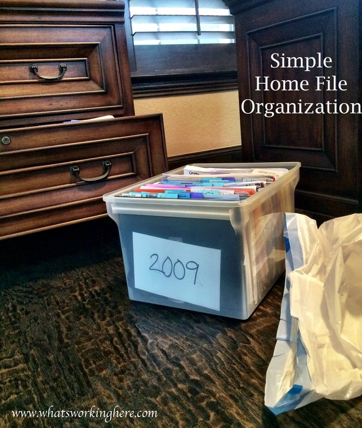 Easy Home File Organization