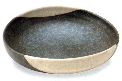 銀彩たわみ盛鉢