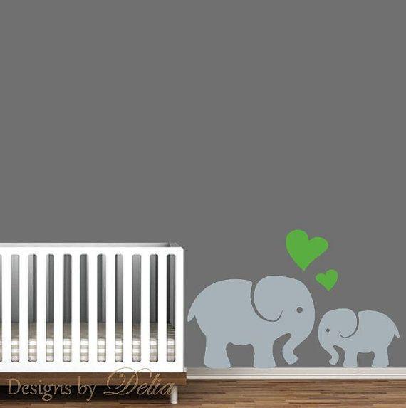 Elephant Wall Art Mommy or Daddy Elephant with by DesignsByDelia09, $34.00