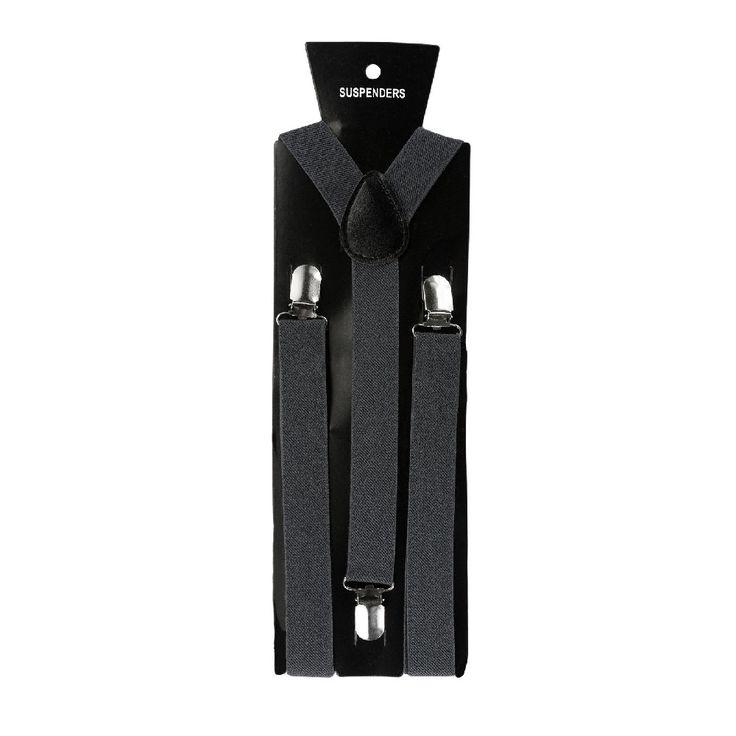 Hosenträger Unisex verstellbar Y -Form - grau in Bekleidung Accessoire  • Hosenträger